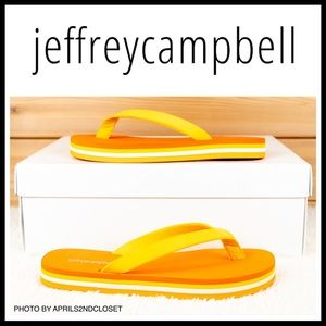 JEFFREY CAMPBELL PLATFORM SLIDES SANDALS A3C